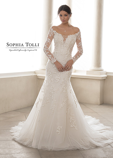 Y21825-D (+ sleeves) Wedding                                          dress by Sophia Tolli