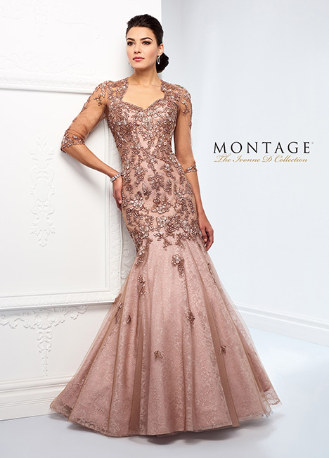 218D31 (Taupe/Pink) Mother of the Bride                              dress by Montage: Ivonne D Collection