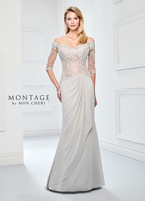 218905 (Ice Gray) Mother of the Bride                              dress by Montage by Mon Cheri