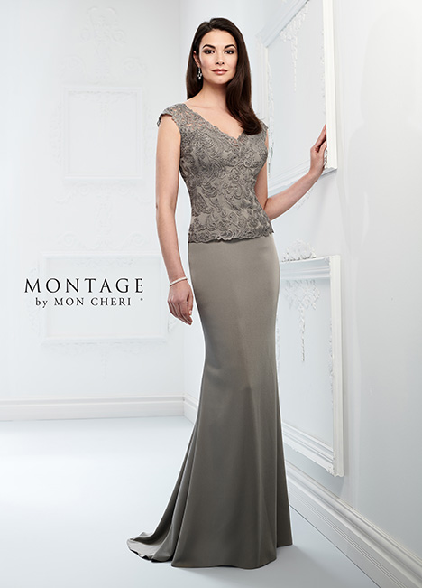218915 (Dark Gray) Mother of the Bride                              dress by Montage by Mon Cheri