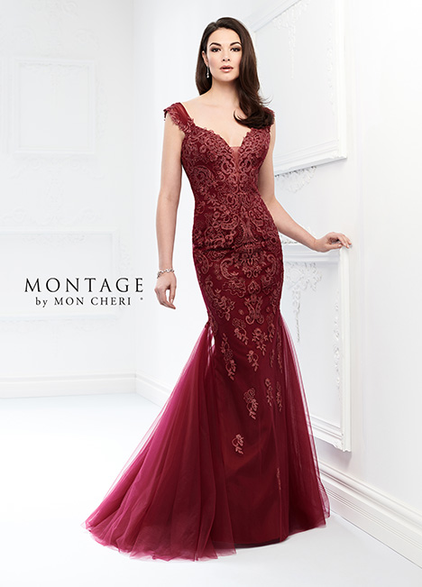 218918 (Wine) Mother of the Bride                              dress by Montage by Mon Cheri
