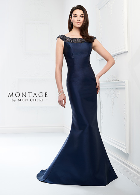 218920 (Navy Blue) Mother of the Bride                              dress by Montage by Mon Cheri