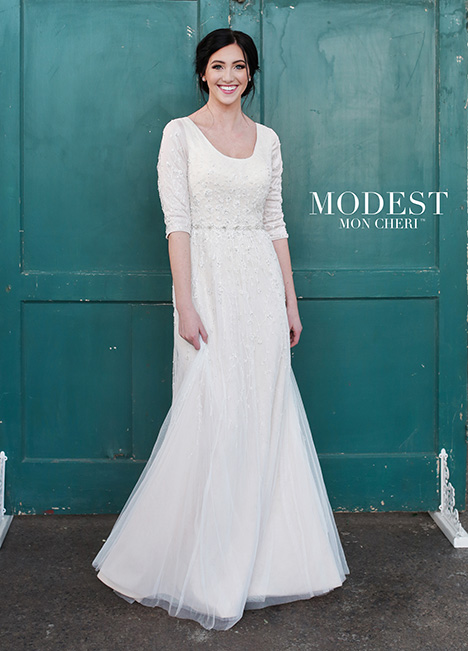 Style TR21852 gown from the 2018 Modest by Mon Cheri collection, as seen on dressfinder.ca
