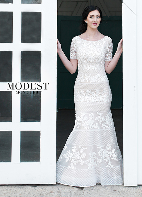 TR21856 gown from the 2018 Modest by Mon Cheri collection, as seen on dressfinder.ca