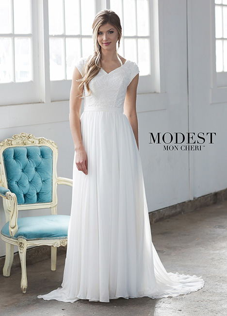 TR21857 Wedding                                          dress by Modest by Mon Cheri