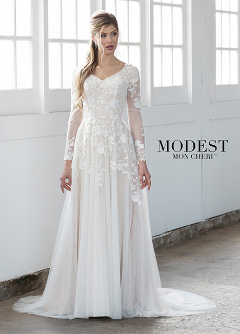TR21858 gown from the 2018 Modest by Mon Cheri collection, as seen on dressfinder.ca