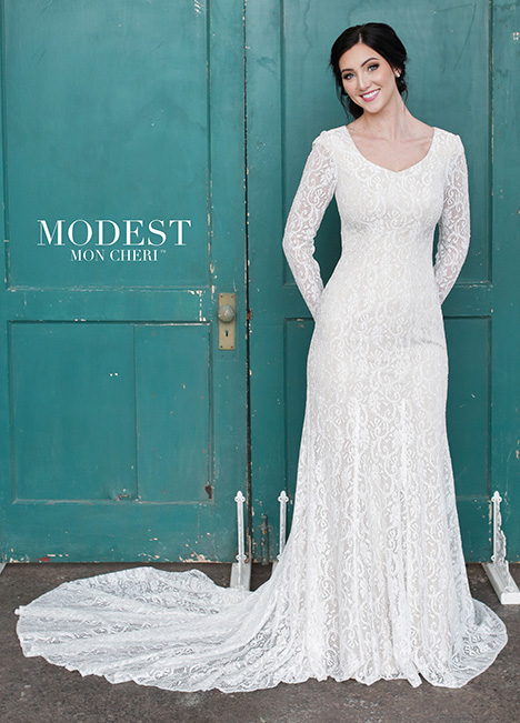 TR21859 Wedding                                          dress by Modest by Mon Cheri