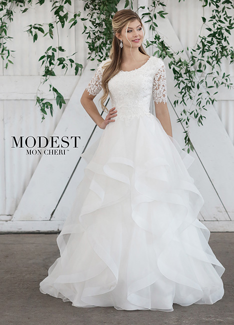 Style TR21860 gown from the 2018 Modest by Mon Cheri collection, as seen on dressfinder.ca