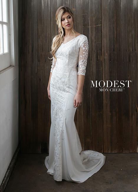 TR21863 Wedding                                          dress by Modest by Mon Cheri