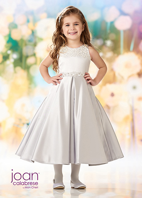 218351 (Silver) Flower Girl                                      dress by Joan Calabrese