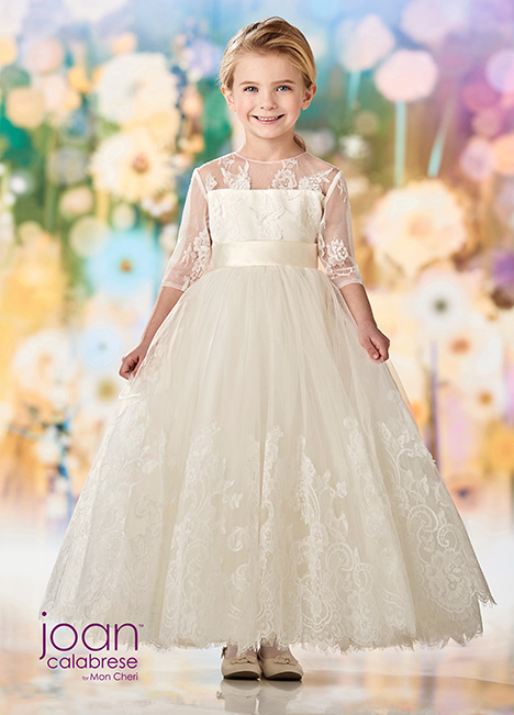 218352 (Ivory) Flower Girl                                      dress by Joan Calabrese