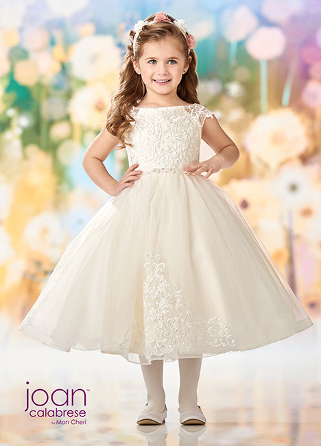 218353 (Ivory) Flower Girl                                      dress by Joan Calabrese