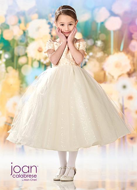 218354 (Ivory/Light Gold) Flower Girl                                      dress by Joan Calabrese