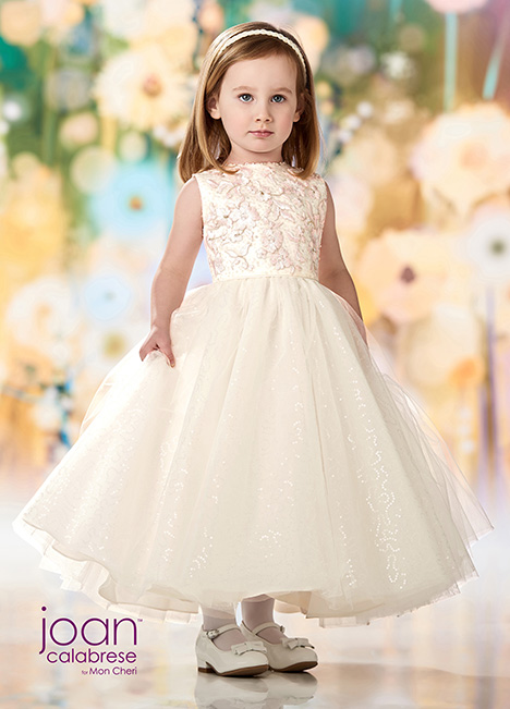 218357 (Ivory/Pink) Flower Girl                                      dress by Joan Calabrese