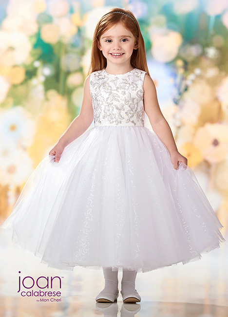 218357 (Silver) Flower Girl                                      dress by Joan Calabrese