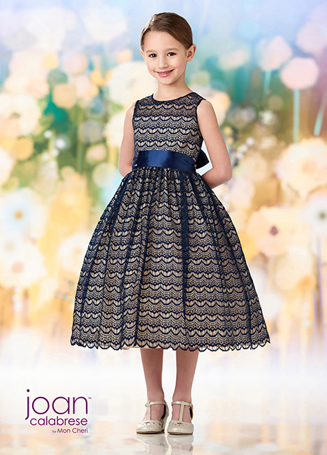 218350 (Navy Blue) Flower Girl                                      dress by Joan Calabrese