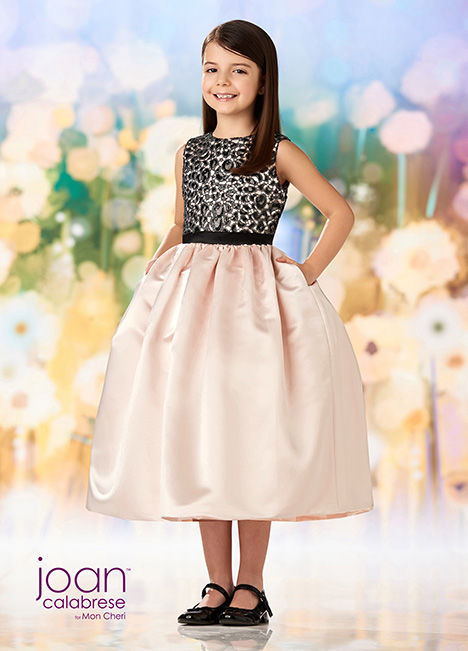 218358 (Petal/Black) Flower Girl                                      dress by Joan Calabrese