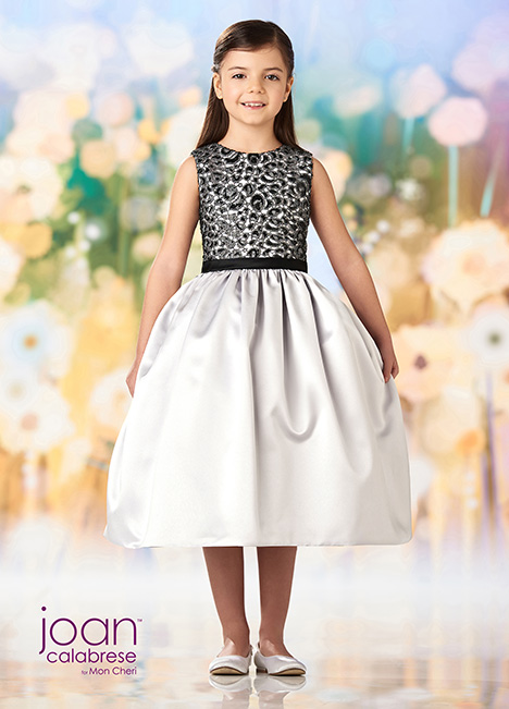 218358 (Silver/Black) Flower Girl                                      dress by Joan Calabrese