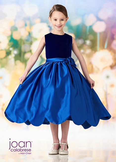 218361 (Blue) Flower Girl                                      dress by Joan Calabrese