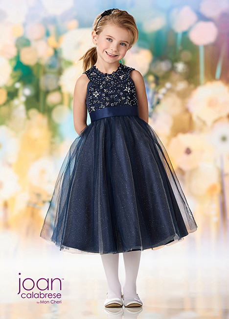 218363 (Navy Blue) Flower Girl dress by Joan Calabrese