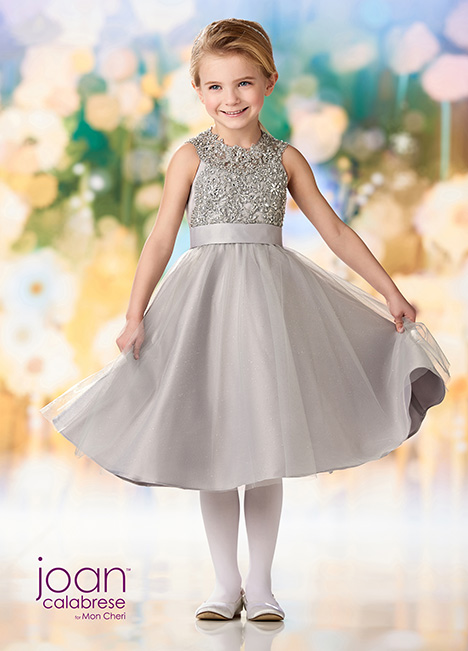 218363 (Silver) Flower Girl dress by Joan Calabrese