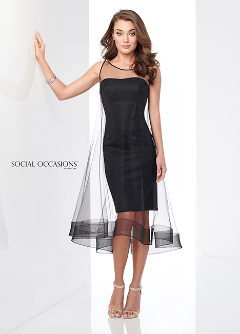 218802 (Black/Pewter) Mother of the Bride                              dress by Mon Cheri : Social Occasions