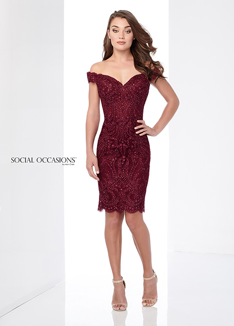 218805 (Wine) Mother of the Bride                              dress by Mon Cheri: Social Occasions