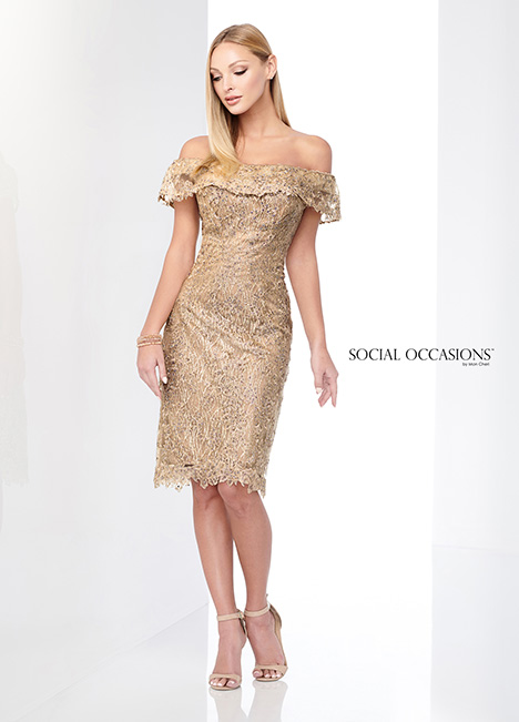 218810 (Gold) Mother of the Bride                              dress by Mon Cheri: Social Occasions