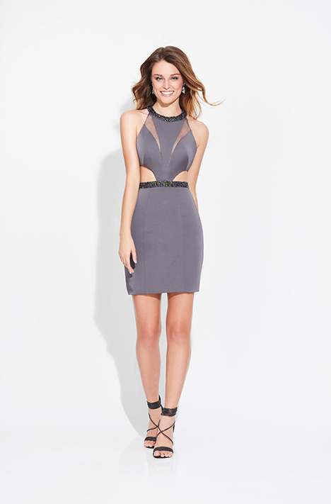 17-502 (Grey) Prom                                             dress by Madison James Special Occasion