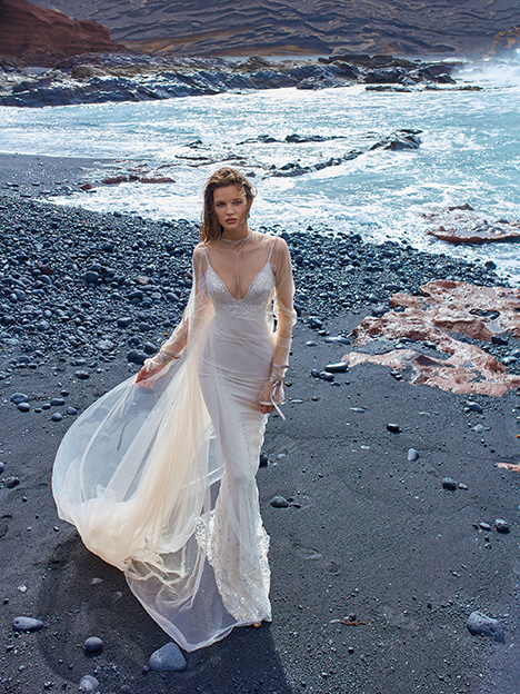 GALA-1007 (+ cape) Wedding                                          dress by GALA by Galia Lahav