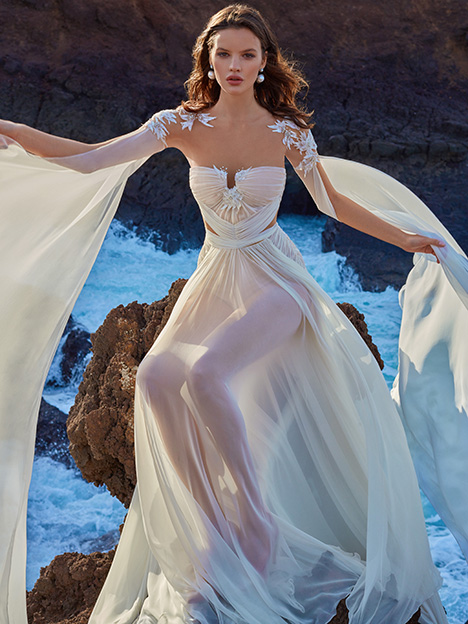 (+ draped top) Wedding                                          dress by Galia Lahav Bridal Gala