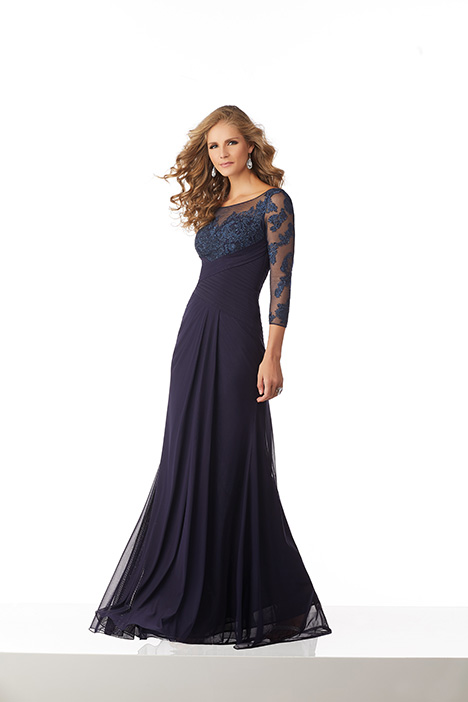 71807 (Navy) Mother of the Bride                              dress by Mori Lee : MGNY