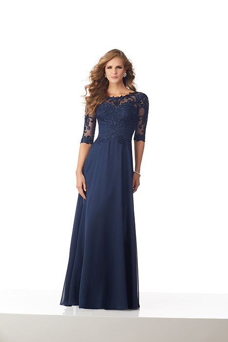 71812 (Navy) Mother of the Bride                              dress by Mori Lee : MGNY
