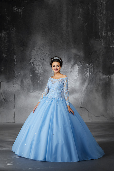 60052 (Bahama Blue) Prom                                             dress by Morilee Valencia