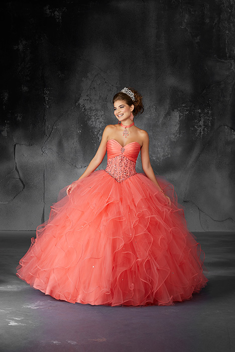 60053 (Coral) Prom                                             dress by Morilee Valencia