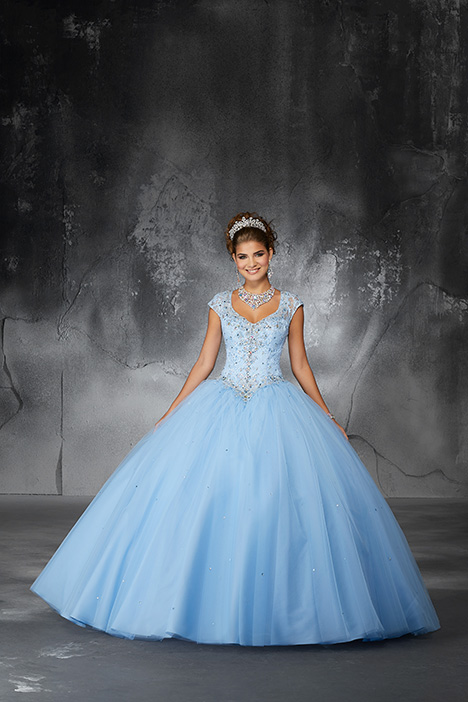 60060 (Bahama Blue) Prom                                             dress by Morilee Valencia