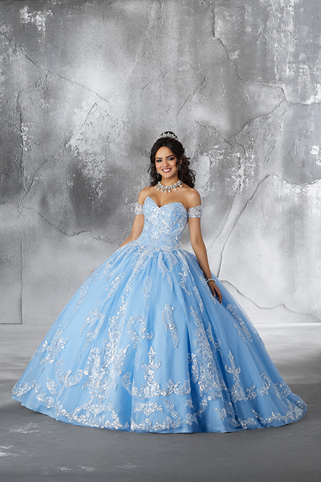 89186 (Bahama Blue) Prom                                             dress by Morilee Vizcaya
