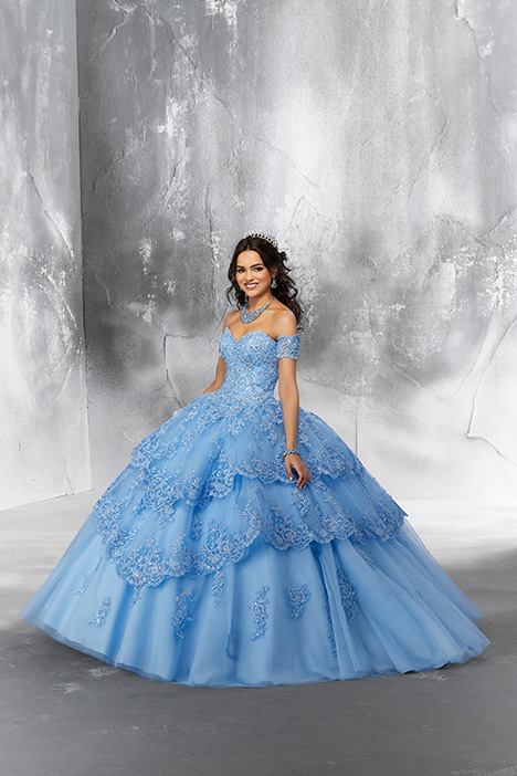 89190 (Bahama Blue) Prom                                             dress by Morilee Vizcaya
