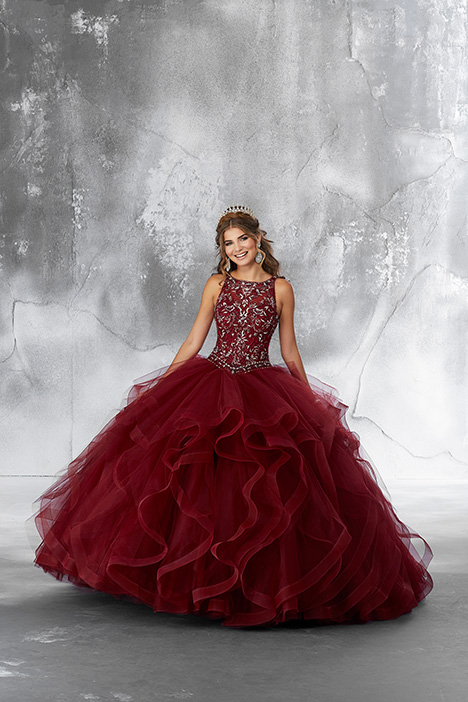 89194 (Sangria) gown from the 2018 Morilee Vizcaya collection, as seen on dressfinder.ca