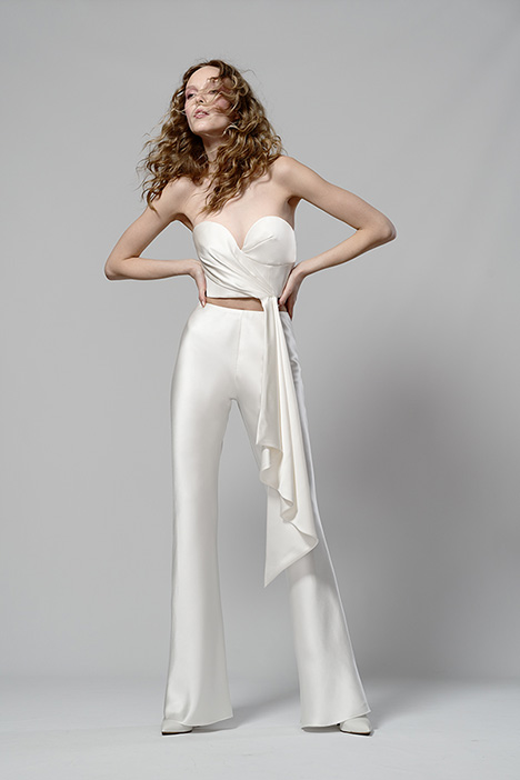 Cleo Bustier & Cleo Pant Wedding                                          dress by Elizabeth Fillmore