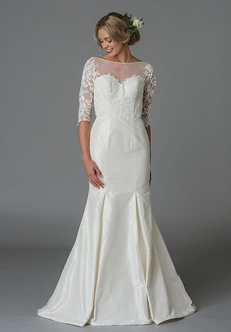 Jennifer Wedding                                          dress by Lis Simon