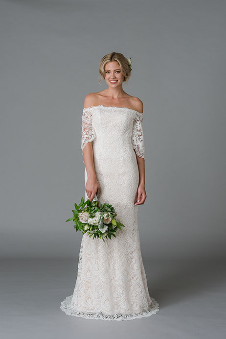 Jessica Wedding                                          dress by Lis Simon