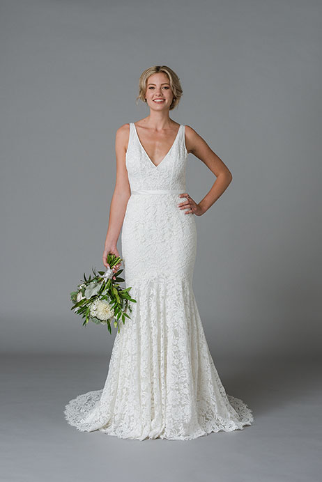 Jordan Wedding                                          dress by Lis Simon