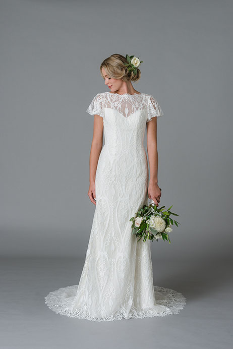 Joss Wedding                                          dress by Lis Simon