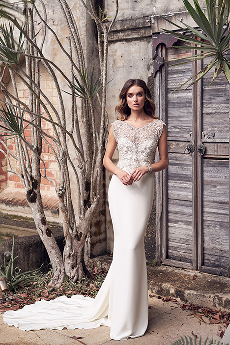 Aria (Crepe de Chine) Wedding                                          dress by Anna Campbell