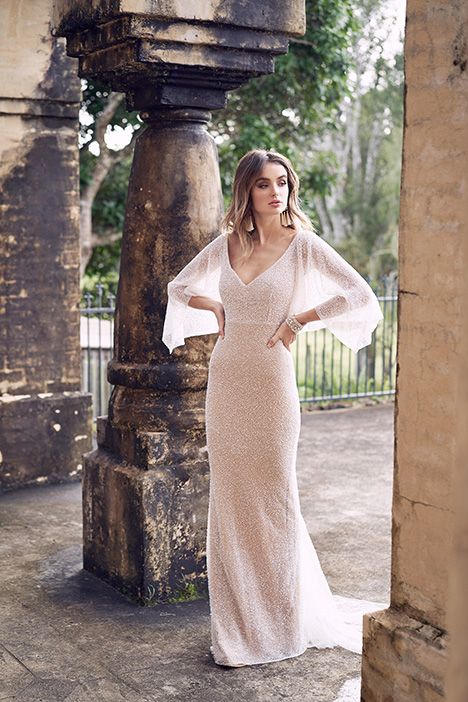 Wanda (Draped Sleeve) Wedding                                          dress by Anna Campbell
