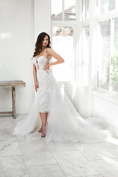 ZB 6057-1Z (+ overskirt) gown from the 2018 Zavana Bridal collection, as seen on dressfinder.ca