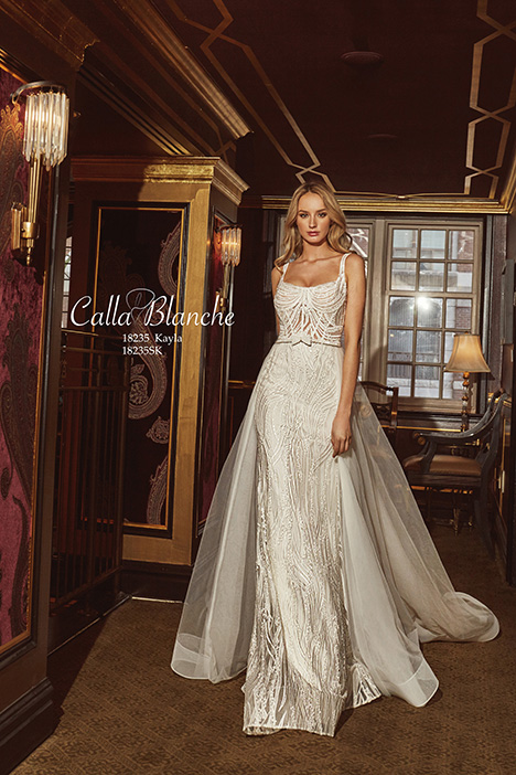 18235 (+ overskirt) Wedding                                          dress by Calla Blanche