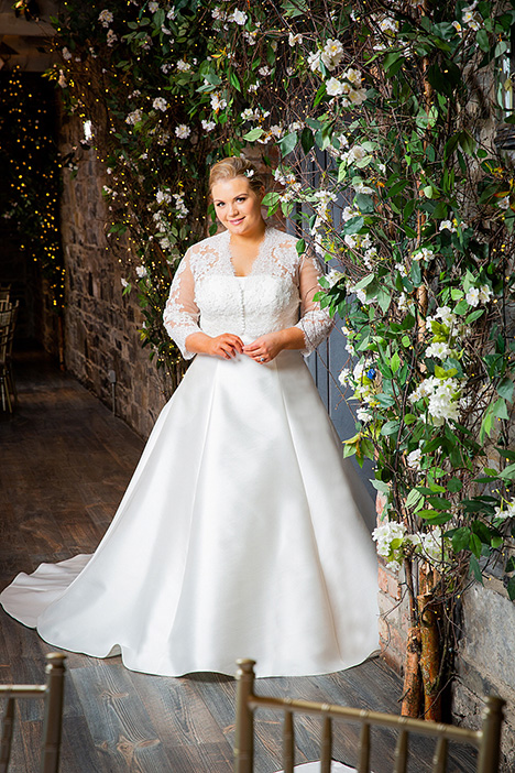 bb19505 (+ jacket bb19518) Wedding                                          dress by Beautiful Brides Plus