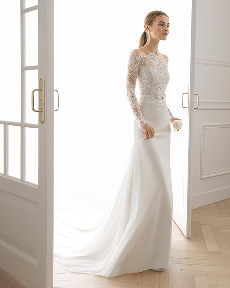 ELBET Wedding                                          dress by Aire Barcelona Bridal